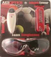 Wisconsin Badgers Team Logo Sunglasses with Retainer Strap and Sun Visor Clip