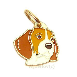 Dog id tag Beagle, Personalised, Engraved, Stainless Steel, Handmade, Charm
