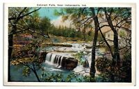 Early 1900s Cataract Falls near Indianapolis, IN Postcard
