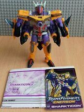 Transformers Energon Sharkticon completa más instrucciones y tarjeta de estadísticas