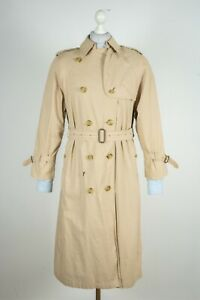 Ladies Burberrys Belted Double Breasted Trench Coat Genuine Superb Size UK 12