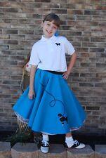 50s Rock n' Roll Shop Girls Poodle Skirt Halloween/Dance Costume Size Grirs 7-9