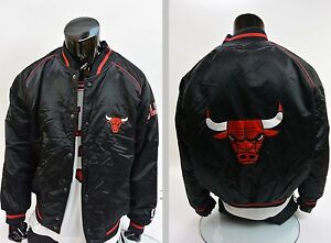 CHAMPION CHICAGO BULLS NBA JACKET BASKETBALL PIPPEN JORDAN RODMAN SIZE L (adults