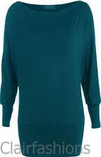 Magliette da donna a manica lunga in cotone verde