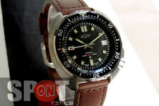 JMD Movement Shark Tuna Diver Turtle Automatic Leather Strap Men's Watch