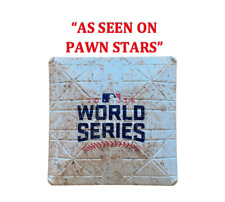2016 CHICAGO CUBS WORLD SERIES GAME USED 1ST BASE, GAME 2 MLB AUTHENTICATED