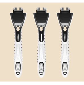 Pack 3 Handle for Dollar Shave Club 4X - Handle Only - BRAND NEW