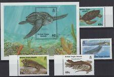 VIRGIN ISLANDS, FAUNA STAMPS, 1988 Mi. 642 - 645 + BL. 53 **