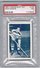 1952 Juniors Blue Tint Hockey Card Barrie Flyers #105 Jack Higgins Graded PSA 7