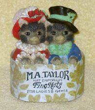 M.A. Taylor Hat Emporium Cats Music Box