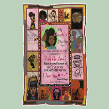 To My Daughter Quilt Blanket, Black Girl Magic Quilt Blanket, Black Girl Gift