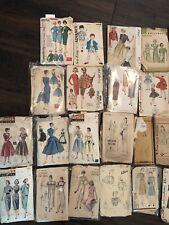 60 Vintage Sewing Patterns/defects/butteric k, Vogue, McCalls, etc.