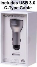HUAWEI SuperCharge AP38 Car Charger 5A Fast Charging Dual USB & Type-C Cable