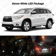 15 x White LED Interior Bulbs + Reverse + Tag Lights For 2014-2017 Highlander