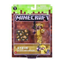 Minecraft 16488 3 Pulgadas Figura De Acción-Paquete de armadura Steve en oro