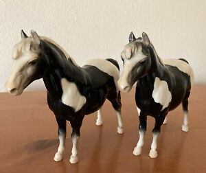 (2) Vintage  BREYER Model Horse BLACK & WHITE Shetland Pony
