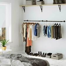 Industrial Pipe Clothes Rail Clothing Rack Wall Mounted Custom UK Made