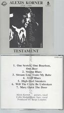 CD--ALEXIS KORNER--TESTAMENT--