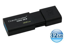 KINGSTON 32GB 32G DataTraveler DT100 G3 USB3.0 Memory Flash Drive Stick 100MB/s