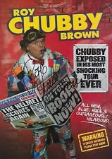"ROY ""CHUBBY"" BROWN - COMEDIAN-HAND SIGNED 2013/14 TOUR FLYER - AFTAL/UACC RD316"