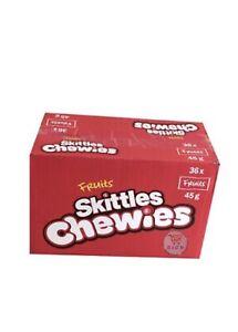 NEW SKITTLES FRUIT CHEWIES FULL BOX 36 x 45 g SWEETS 01/08/2020