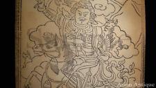 Mongolian Tibetan Amulet Manuscript Sutras Book Leaves Mongolia #A3461