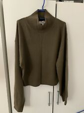 & Other Stories Olive Green Cashmere Mock Neck Sweater M