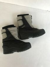 Itasca Youth Boots Size 1 Sonoma Snow Stomper Ski Hunting Rain Black Gray Shoes