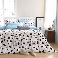 Quilt Doona Duvet Cover Set Pillow Case Single/Double/Queen Size Bed Cow Print