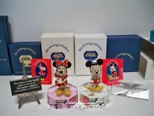 Swarovski Disney Arribas Jeweled Mickey & Minnie Mouse W Plaques & Displays Nib