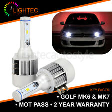 2X CANBUS GOLF MK6 MK7 H15 CREE LED DRL HIGH BEAM BULBS PURE XENON WHITE 6000K
