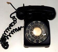 Kellog Kitt  Black Rotary Desk Dial Telephone Vintage! Mid Century Phone