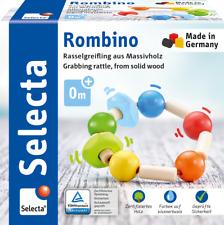 Selecta Babywelt, Rombino Greifling, Rassel, Babyspielzeug, Holz Natur, 61009
