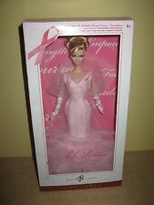 BARBIE DOLL PINK RIBBON SUSAN G. KOMEN BREAST CANCER PINK LABEL gown love