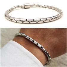 Bracciale da uomo in acciaio a catena maglia intrecciato braccialetto