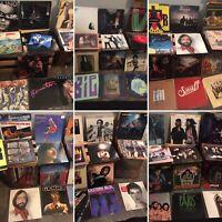 LOT OF 10 ASSORTED ROCK VINYL LP RECORD ALBUMS