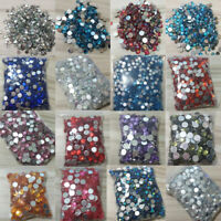 Multicolor Crystal AB Iron On Hotfix Rhinestones Hot Fix Flatback Strass Stones