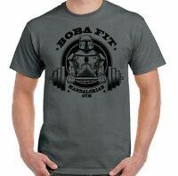 Camiseta de Gimnasio Boba Para Hombre Divertido Training Top Mma Culturismo Fett