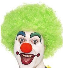 ANNI 70 80 1980s DONNA UOMO CRAZY CLOWN parrucca costume carnevale afro verde