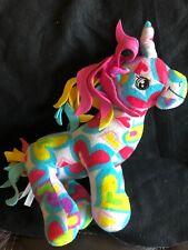 "Melissa And Doug Beeposh Unicorn Pink Green Paisley Floral Plush Floppy 18"""