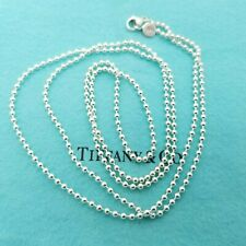 Tiffany & Co. Large Bead 925 Sterling Silver Ball Beaded 36' Inch Chain
