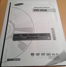 Samsung DVD-VR330 Instruction Manual & Quick Setup Guide