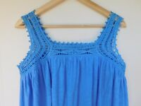 NWT Gap Women's Sleeveless Blue Crochet Top Sizes XS S M L XL MSRP $30 New