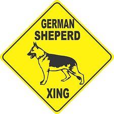 "13""x13"" plastic German Sheperd sign xing Crossings animal dog"
