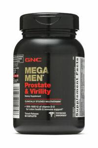 GNC Mega Men Prostate and Virility Multi Vitamins - 90 Caplets-EXP 08/22