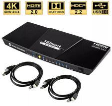 TESmart Newest HDMI KVM Switch 4 Port 4K@60Hz Ultra HD 4x1 HDMI KVM Switcher