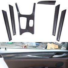 For BMW X3 F25 X4 11-16 Carbon Fiber Style Interior Trim Kit Full Set Cover 6pcs