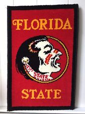 "Florida Seminoles Wall Rug 27"" x 18"" made by Mohawk Carpet Mills in the 1970's"