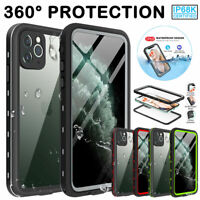 360° Shockproof Armor Waterproof Case for iPhone 11 Pro Max XS XR X Hybrid Cover