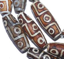 40mm Tibetan Mystical Old Agate Gemstone loose beads 5pc